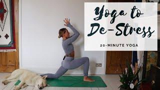 YOGA TO DE-STRESS | 20-Minute Full Body Stretch | CAT MEFFAN