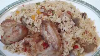 HOW TO MAKE WHITE JOLLOF W/ GOAT TRIPE AND OTHER THINGS