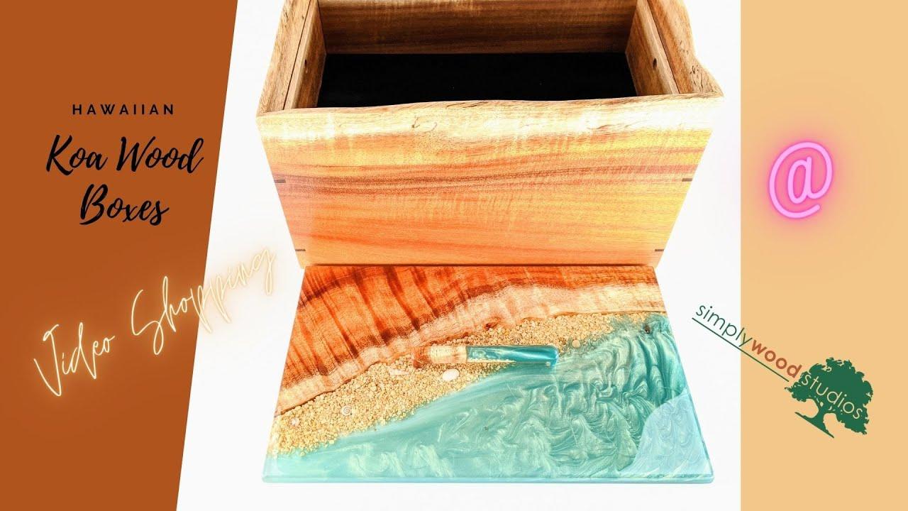3 Hawaiian Koa Wood Jewelry Boxes