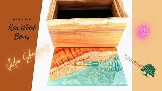 Hawaiian Koa Wood Jewelry Boxes