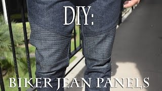 DIY: Biker Jean Panels (Biker Jeans) Tutorial | KAD Customs #36