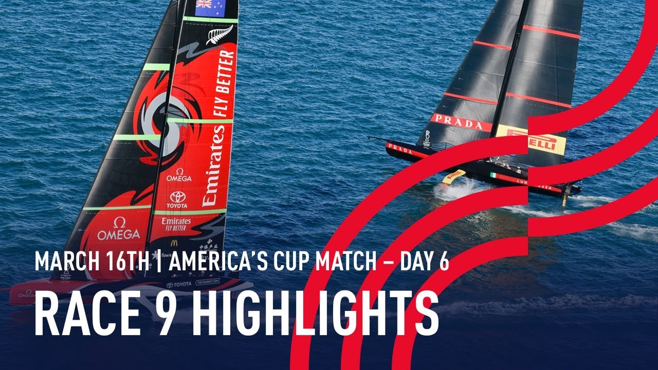 36th America's Cup Race 9 Highlights