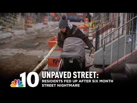 Homeowners Fed Up After Philly Street Left Unpaved for Six Months
