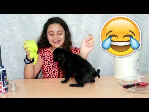 Slime al Reves Slime Backwards Challenge 🎄 Diy tutorial slime Momentos Divertidos
