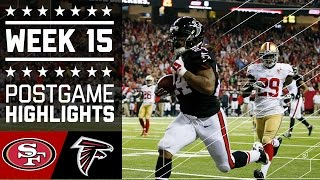49ers vs. Falcons | NFL Week 15 Game Highlights