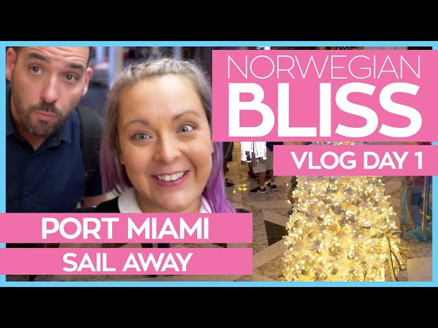 Norwegian Bliss | Boarding the Ship & Miami Sail Away | Norwegian Cruise Line Vlog Day 01