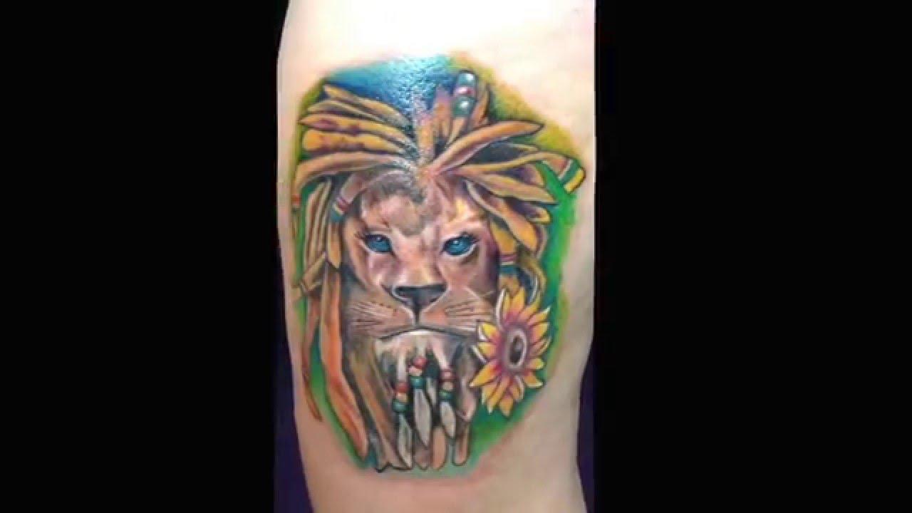 26a83e157 Rasta lion @ crazy cactus tattoo - Instagram Tatzilla1 . Scottsdale, Az