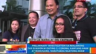 Preliminary investigation sa kasong tax evasion ni dating CJ Corona,  nakatakda ngayong araw