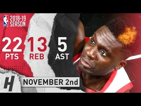 Clint Capela Full Highlights Rockets Vs Nets 2018.11.02 - 22 Pts, 5 Ast, 13 Rebounds!