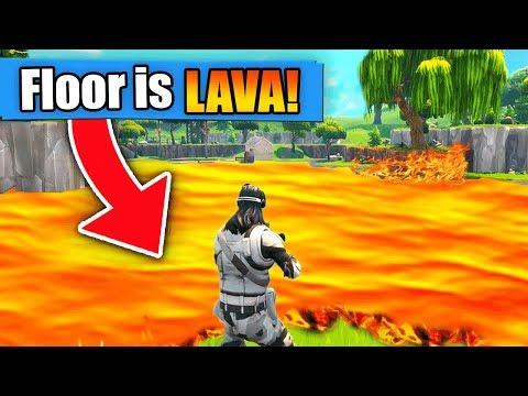 THE FLOOR IS LAVA! (Fortnite Battle Royale Challenge)