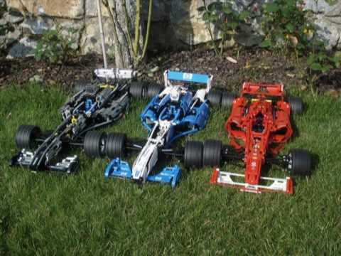 Lego Technic 8458 Silver Champion Lego Racers 8461 Williams F1 8674 Ferrari F1 Racer 1 8 Youtube