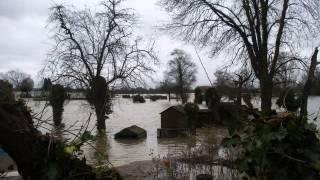 Floods, Abingdon, Culham, Sutton Courtenay, River Thames  2008