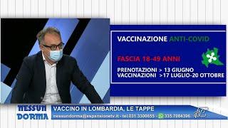 Nessun dorma 2 aprile 2021 - vaccino in lombardia, le tappe