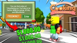 *NEW* COOKING SIMULATOR CODES *All Working* (Roblox Cooking simulator)