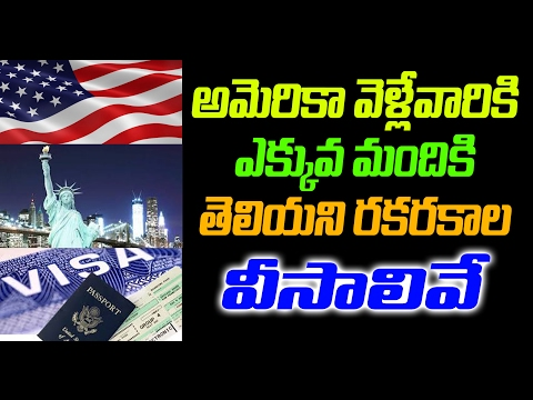 What are the different types of visas | Visa policy of the United States | Top Telugu Viral
