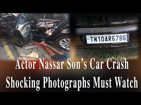Actor Nassar Son's car Crash Shocking Photographs Must Watch -- RedPix 24x7