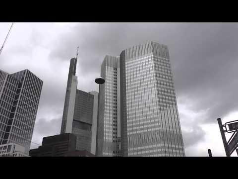 Eurotower und Commerzbank in Frankfurt am Main