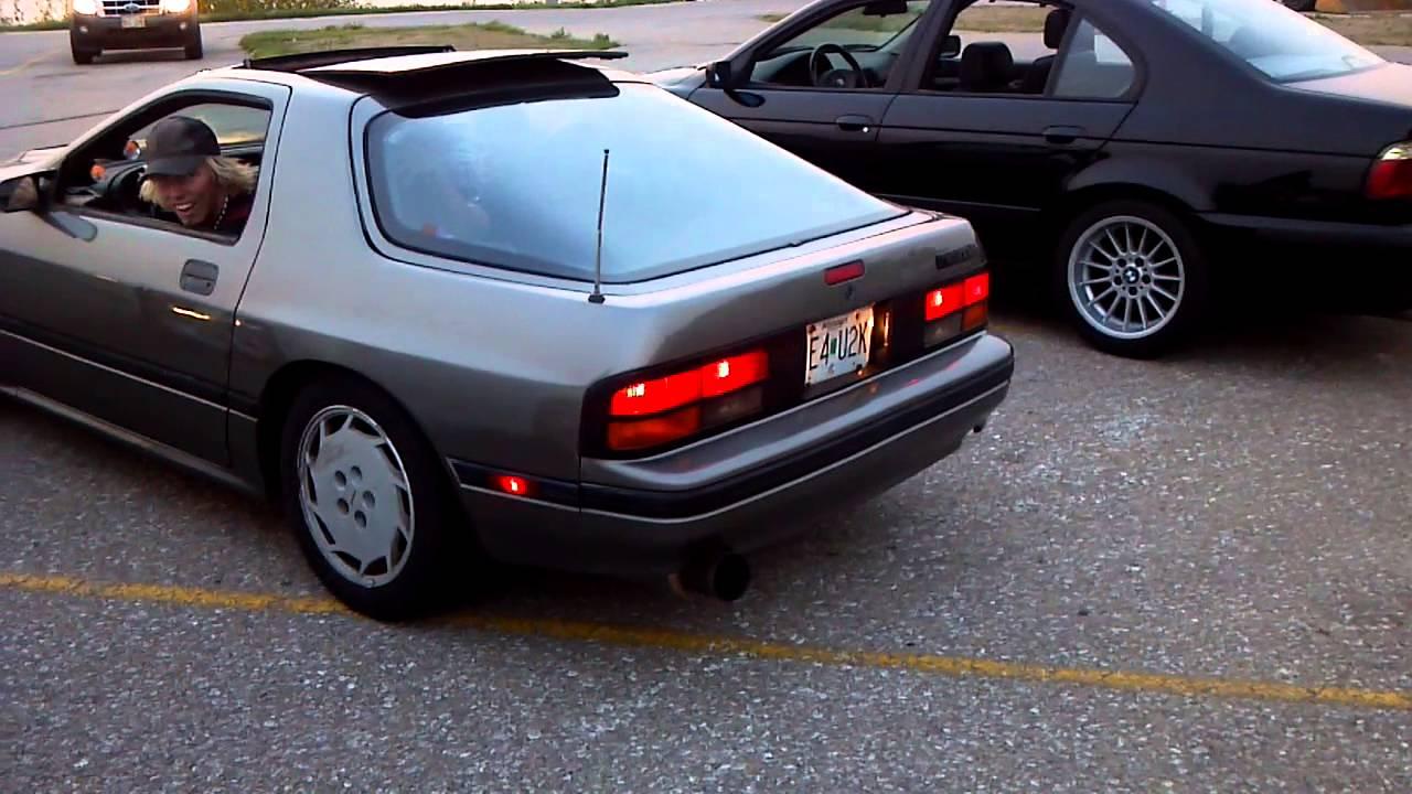 Mazda RX7 FC Turbo II Flames  YouTube