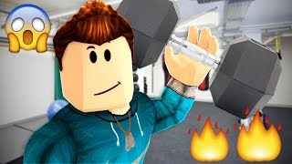 WORKOUT OR DIE! HE'S SO BUFF!! (Roblox Roleplay)