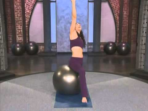 on the ball  pilates  yoga workout for beginners 18