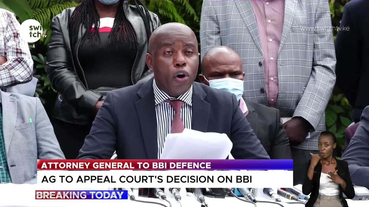 Attorney General, Kihara Kariuki, dissatisfied with Court's decision on BBI | Notice of appeal