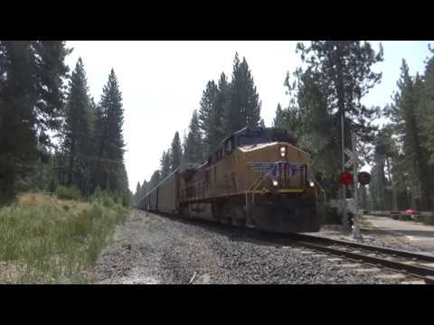 Union Pacific Freight Trains on the Canyon Subdivision
