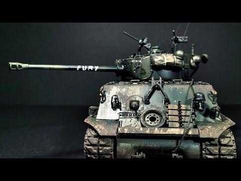 "Building Italeri's M4A3E8 Sherman ""Fury"""