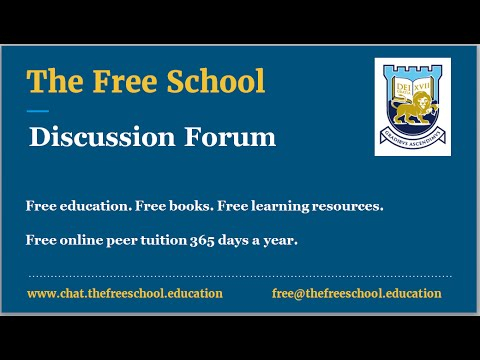 The Free School Chat Global Launch : Free Online Tutor Support
