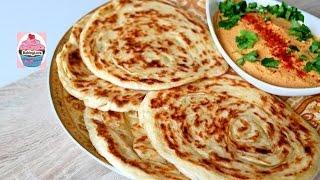 Meloui I Marokkanisches Pfannenbrot I Schneckenbrot I Brot I Fladen