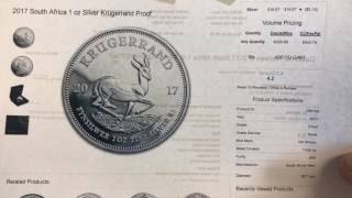 2017 proof Silver Krugerrand wow! Is the expensive!