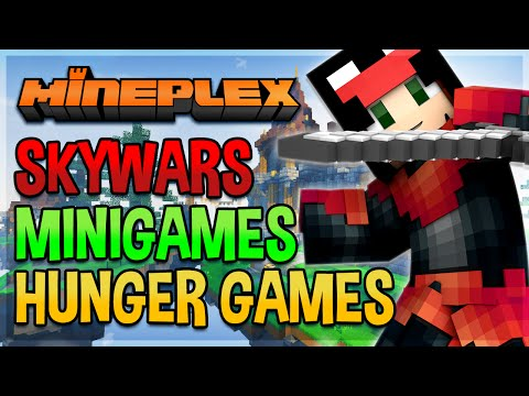 Minecraft SKYWARS, HUNGER GAMES, ARCADE MINIGAMES | Minecraft Mineplex MPS PVP | #150