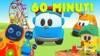 60 minuti con Leo! trattori, macchinine e camion grandi - Un'ora di cartoni per bambini - 1 H