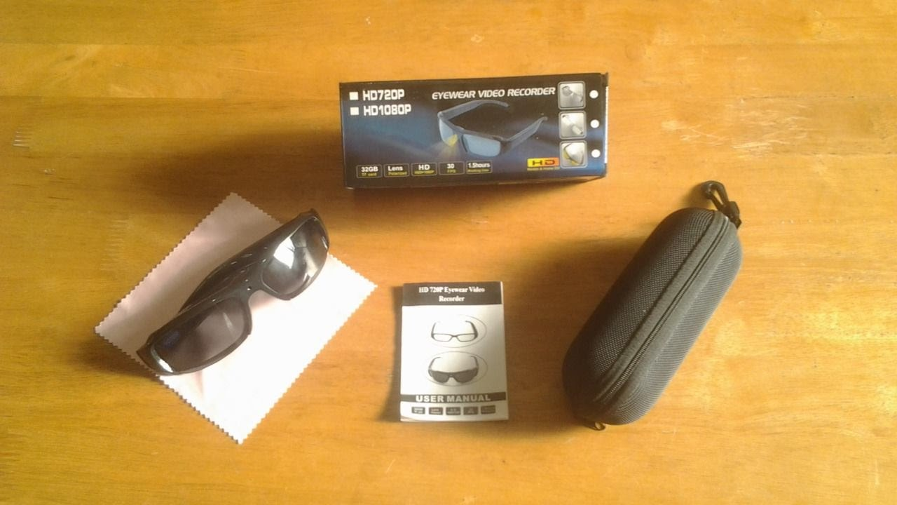 834dbcc31963d HD 1080p Spy Camera Glasses Unboxing