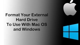Format External Hard Drive For Use With Mac And PC (Windows) Video