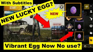 (HINDI) Lucky Egg Pubg Mobile | New Lucky Egg Event Pubg Mobile | Vibrant Egg No Use Now?