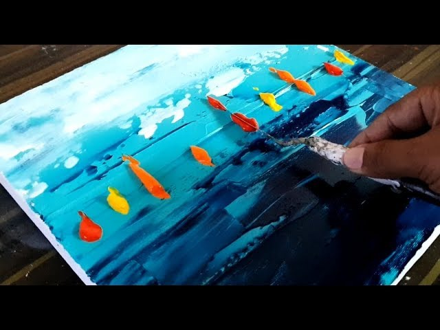 Cool Abstract Painting Colorful Sail Boats Easy To Do Acrylics Project 365 Days Day 0159 Demo