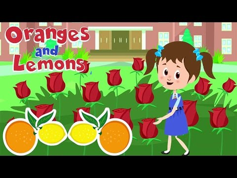 Oranges & Lemons Sold For A Penny Nursery Rhyme With Lyrics - Rhymes For Toddlers