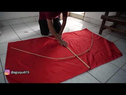 Proses Pembuatan Layangan Walet & Tes Terbang | Layang Layang Bali