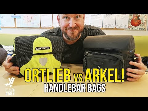 COMPARE ARKEL AND ORTLIEB RECUMBENT HANDLEBAR BAGS