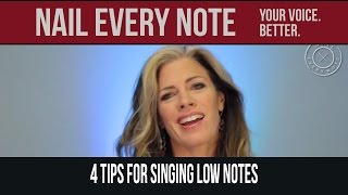 4 Tips for Singing Low Notes
