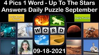 4 Pics 1 Word - Up To The Stars - 18 September 2021 - Answer Daily Puzzle + Bonus Puzzle