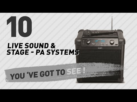 Live Sound & Stage - Pa Systems, Top 10 Collection // New & Popular 2017