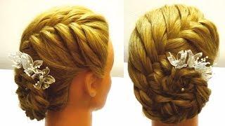 Свадебная прическа на средние волосы.Свадебная прическа с цветами.Wedding hairstyle(Подписывайтесь на канал с прическами на YouTube(Subscribe on my channel) http://www.youtube.com/user/LiliaLady777 Свадебная прическа.Вариан..., 2013-10-21T05:28:05.000Z)