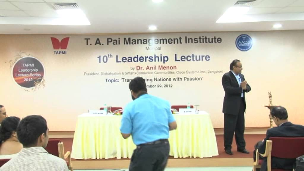 10th Leadership Lecture by Dr Anil Menon Part# 2/4