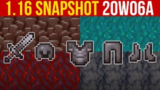 Minecraft 1.16 Snapshot 20w06a Nether Biomes, Netherite (Stronger Than Diamond!)