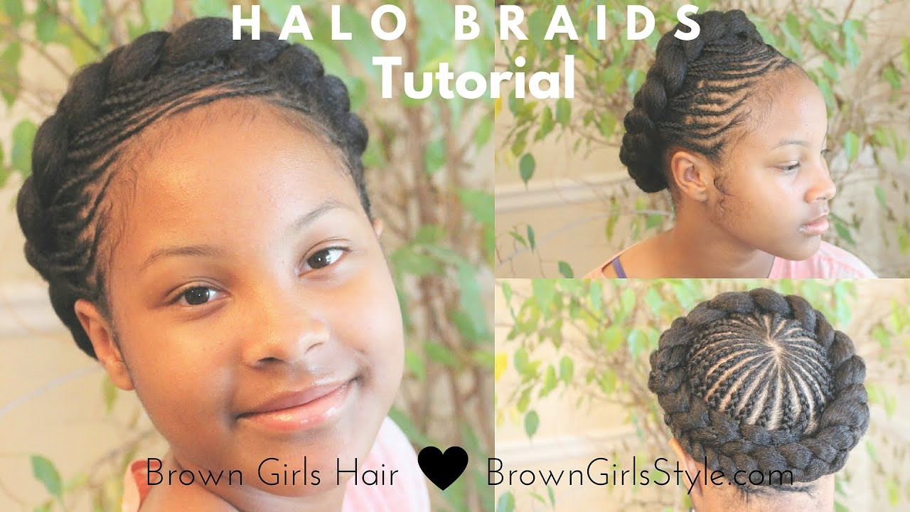 Halo Braid Tutorial Natural Hair Kids Youtube