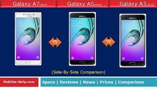 samsung galaxy a7 2016 vs galaxy a5 2016 vs galaxy a3 2016 review quick comparison