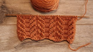 Узор Японский ажур спицами | Japanese knitting pattern