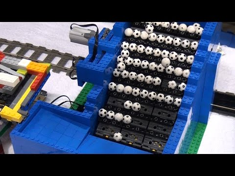 LEGO Great Ball Contraption / Rube Goldberg | BrickFair Alabama 2016