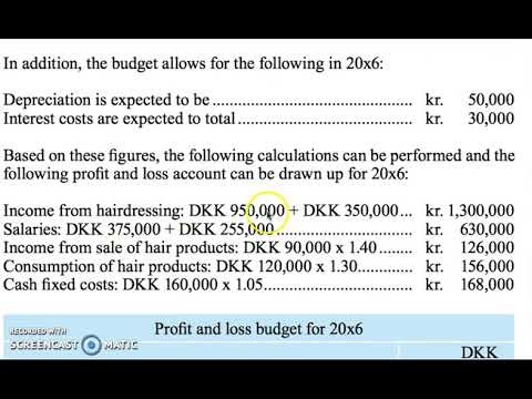 profit and loss budget youtube